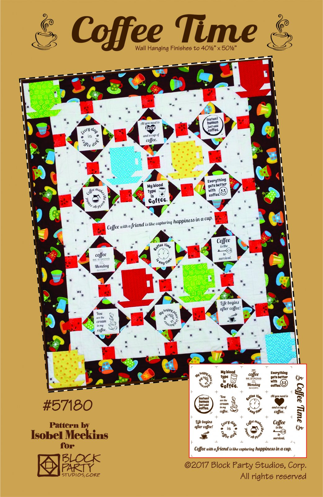 Coffee Time Pattern & Panel