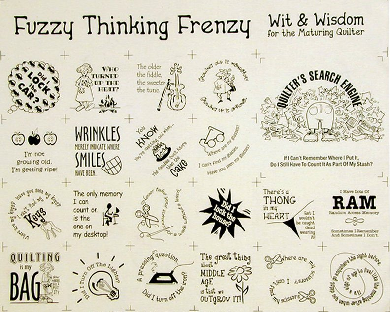 Fuzzy Thinking Fabric Panel