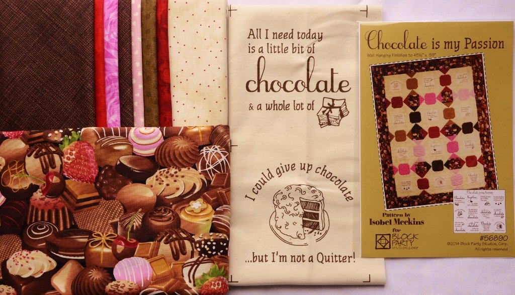 Chocolate is my Passion Quilt Fabric Kit