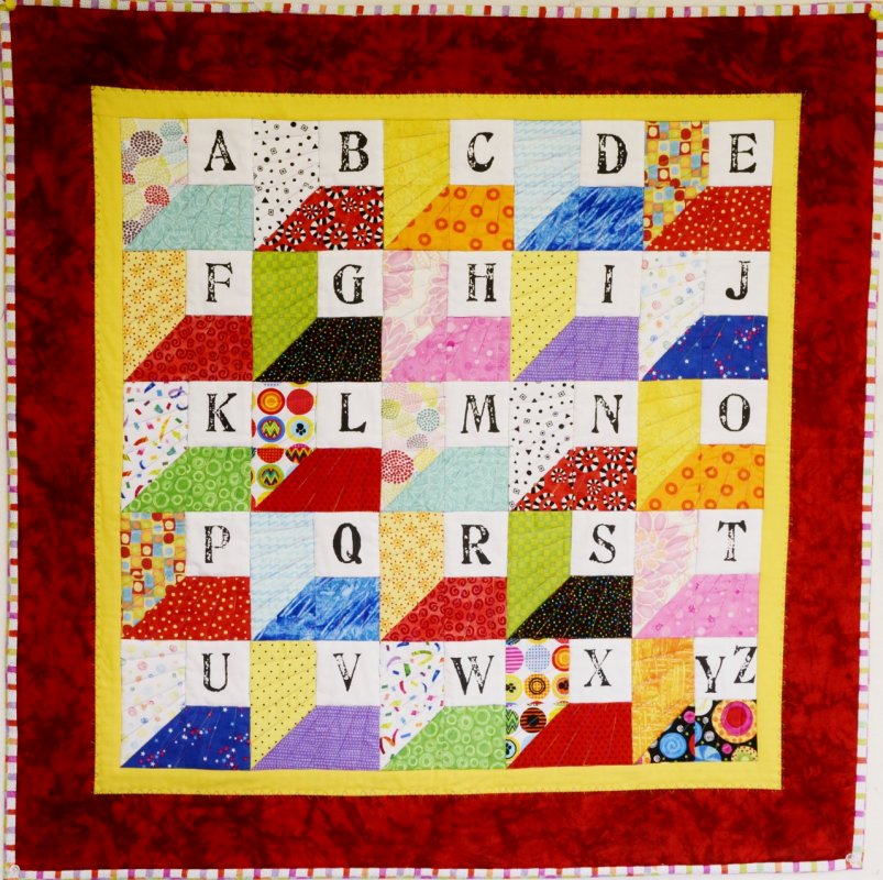 Spell It Yourself! Quilt Fabric Panel
