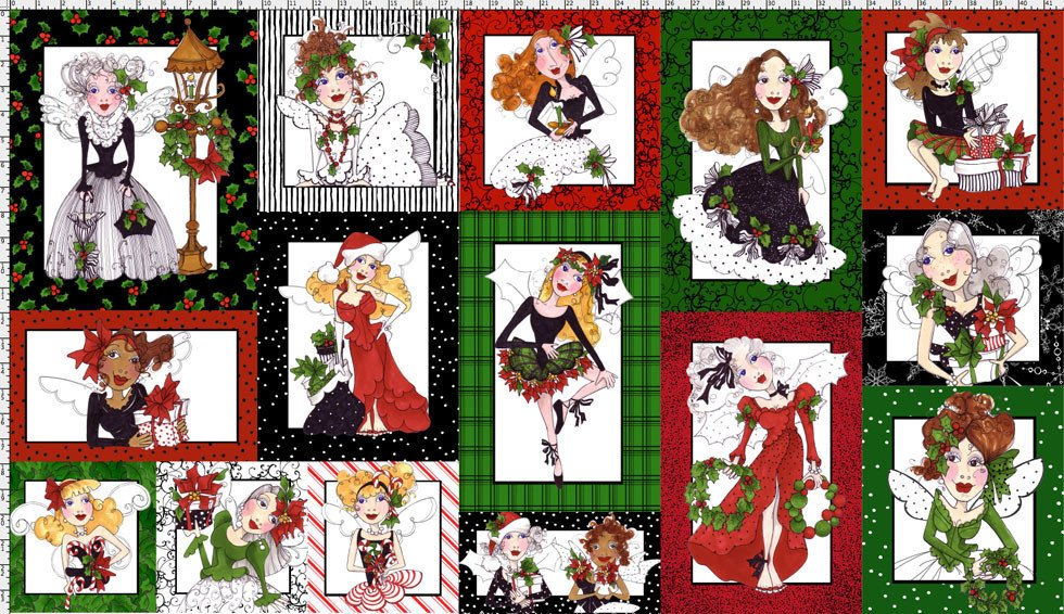 Fairy Merry Christmas Panel