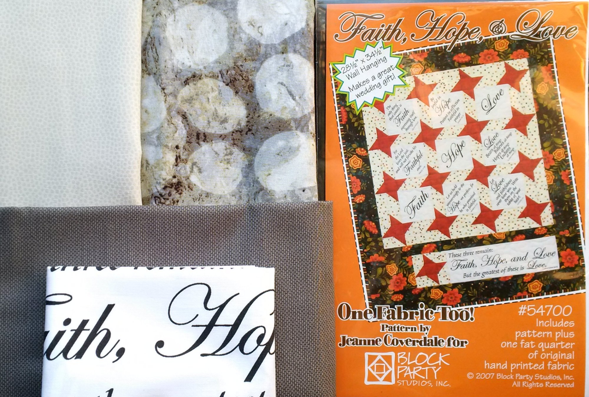 Faith Hope & Love Quilt Kit