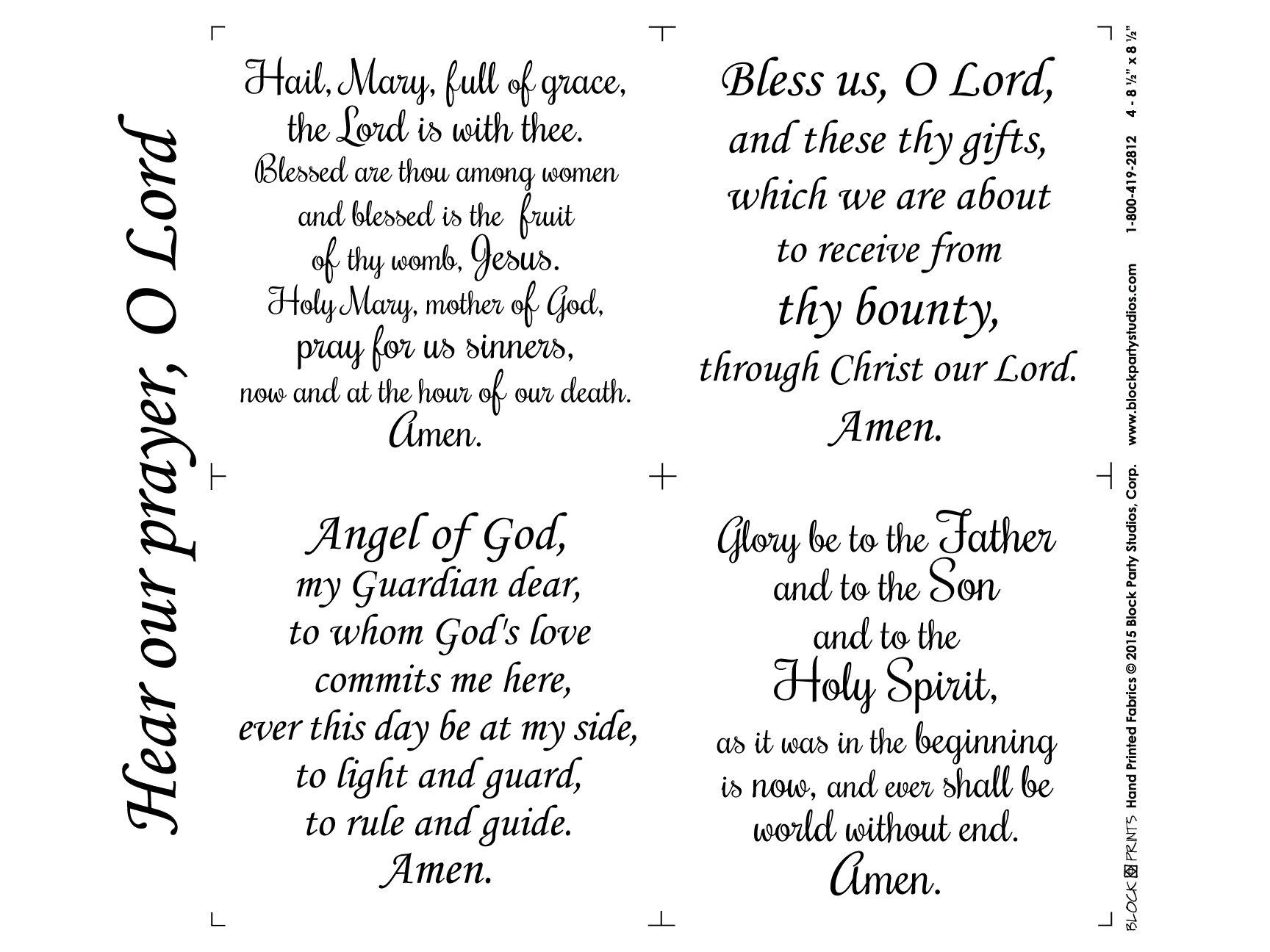 Hear Our Prayer O Lord