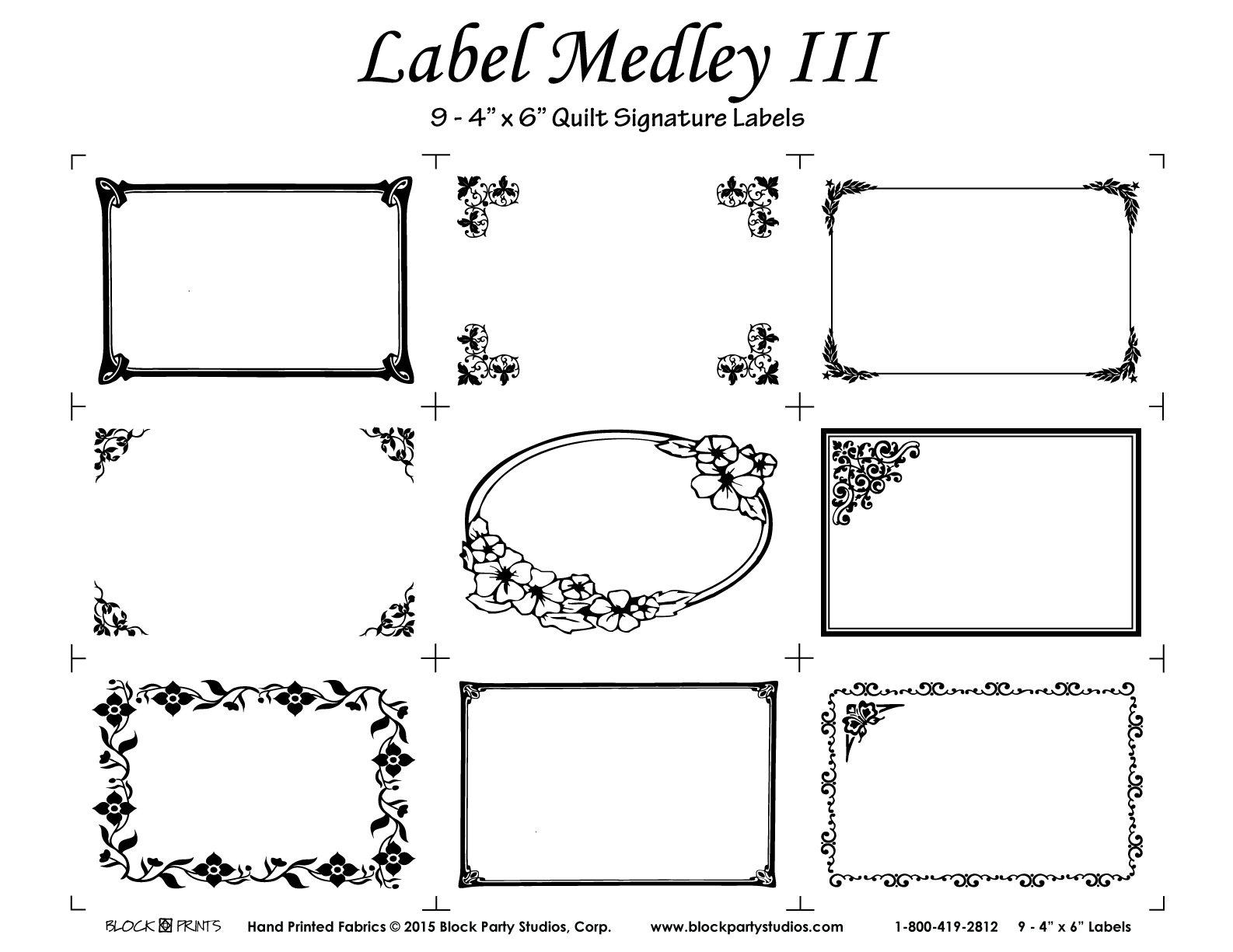 Label Medley III