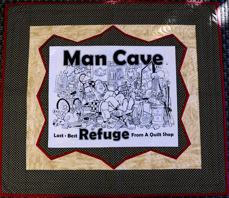 Man Cave Quilt Fabric Kit