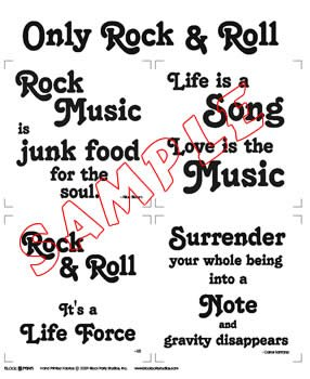 Only Rock and Roll Fabric Panel