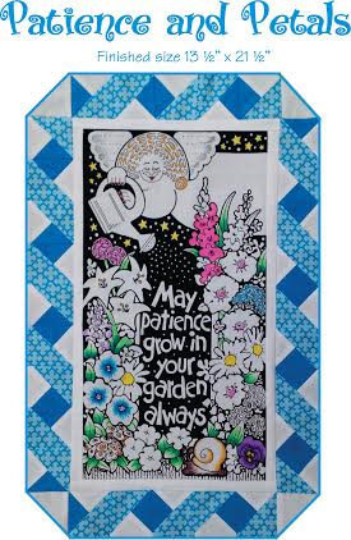 Patience and Petals Panel & Pattern