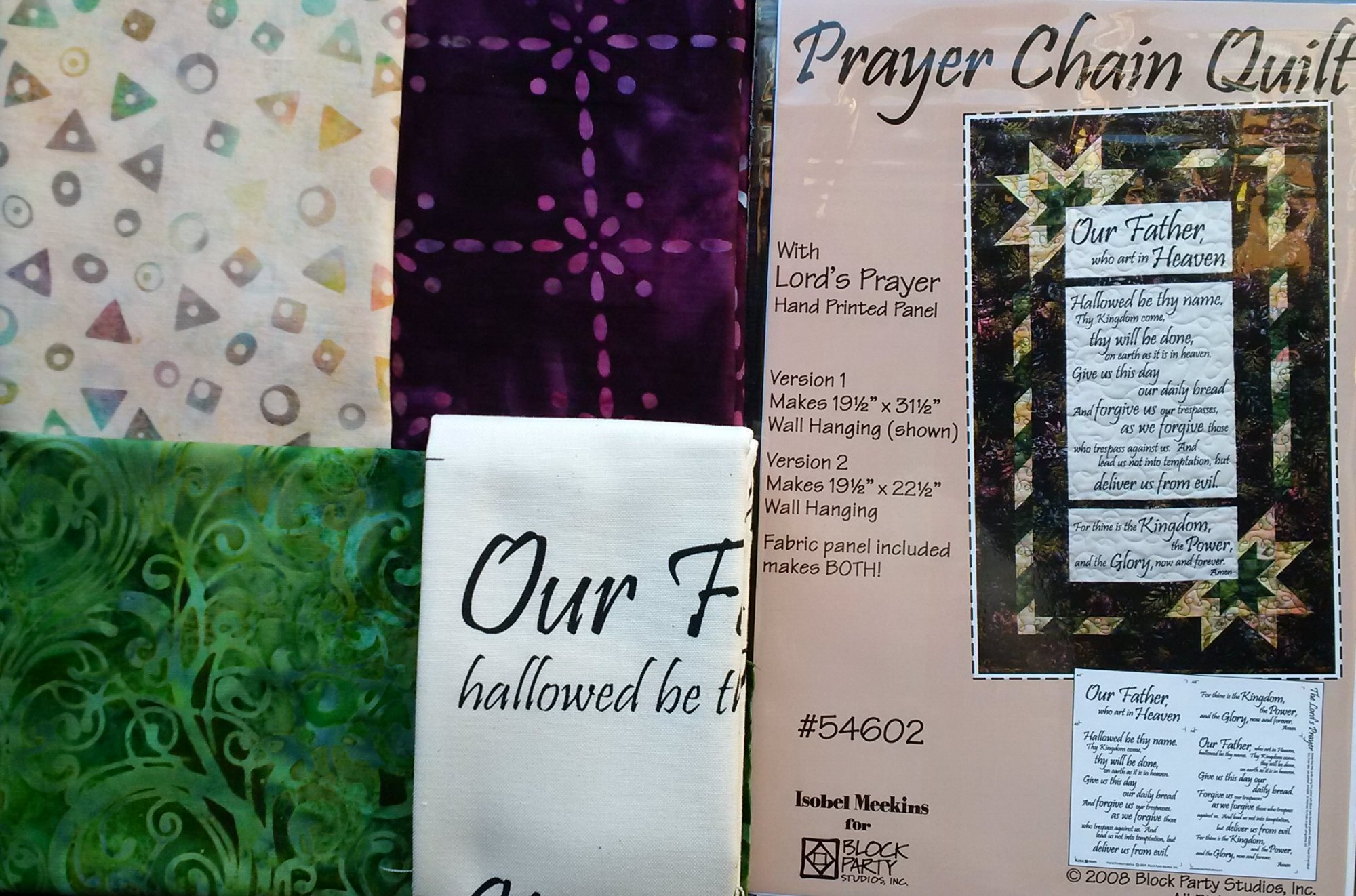 Prayer Chain Quilt Kit w/ Lord's Prayer
