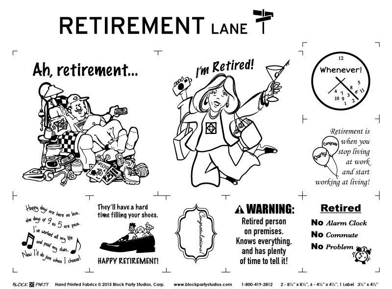 Retirement Lane Fabric Panel
