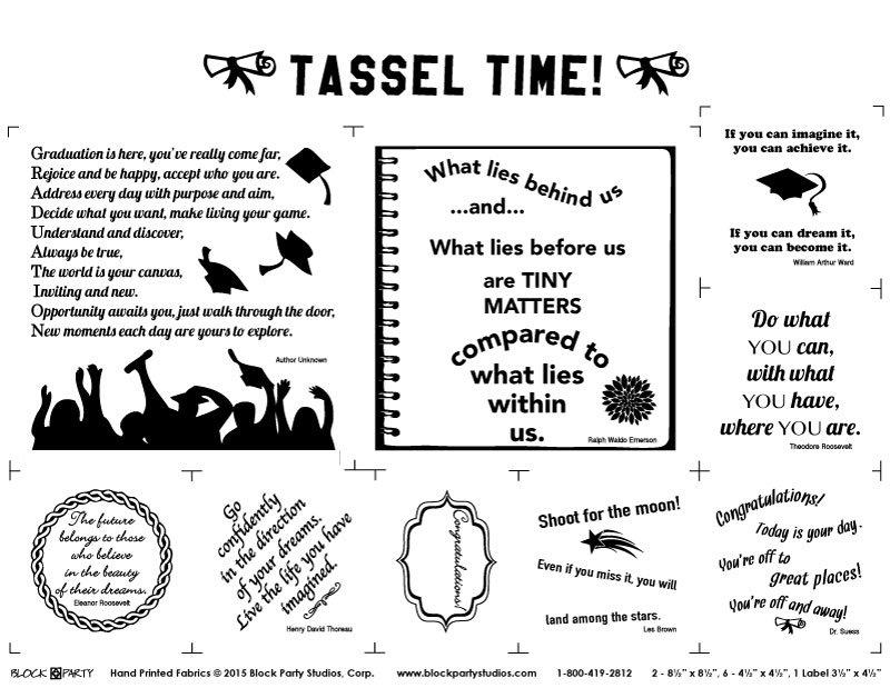 Tassel Time Fabric Panel