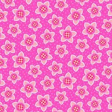 Cerise Pink- Sweet Things Star Flower Fabric