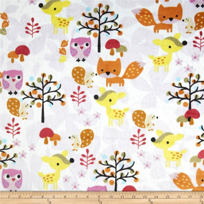 Minky-Foxy Print Multi Color