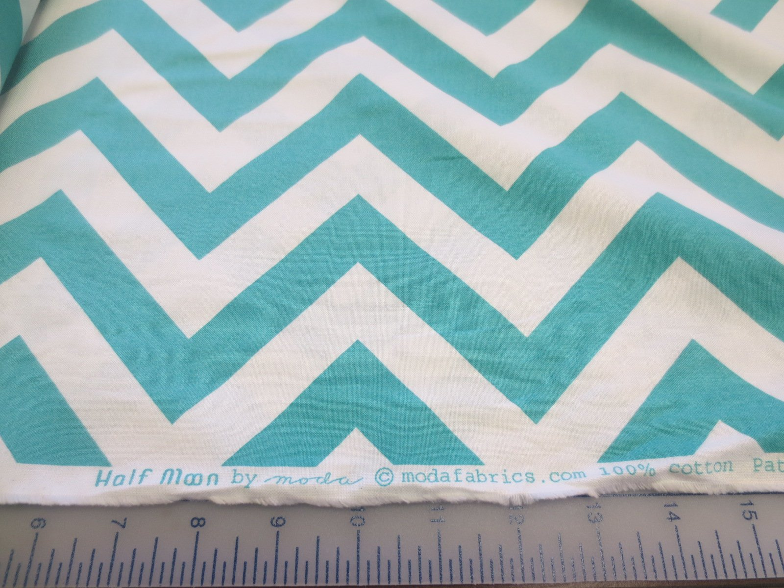 Moda fabrics half moon pattern 32349 teal for Moon pattern fabric