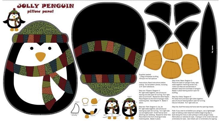 Jolly Penguin Amp Friends Pillow Panel 100409914