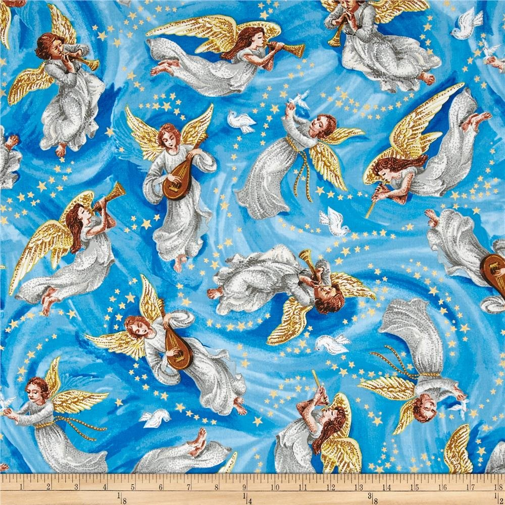 Nativity Metallic Angels Blue 746628128879