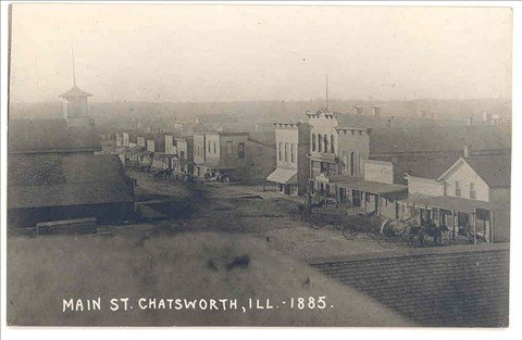 Image result for chatsworth il main street 1885