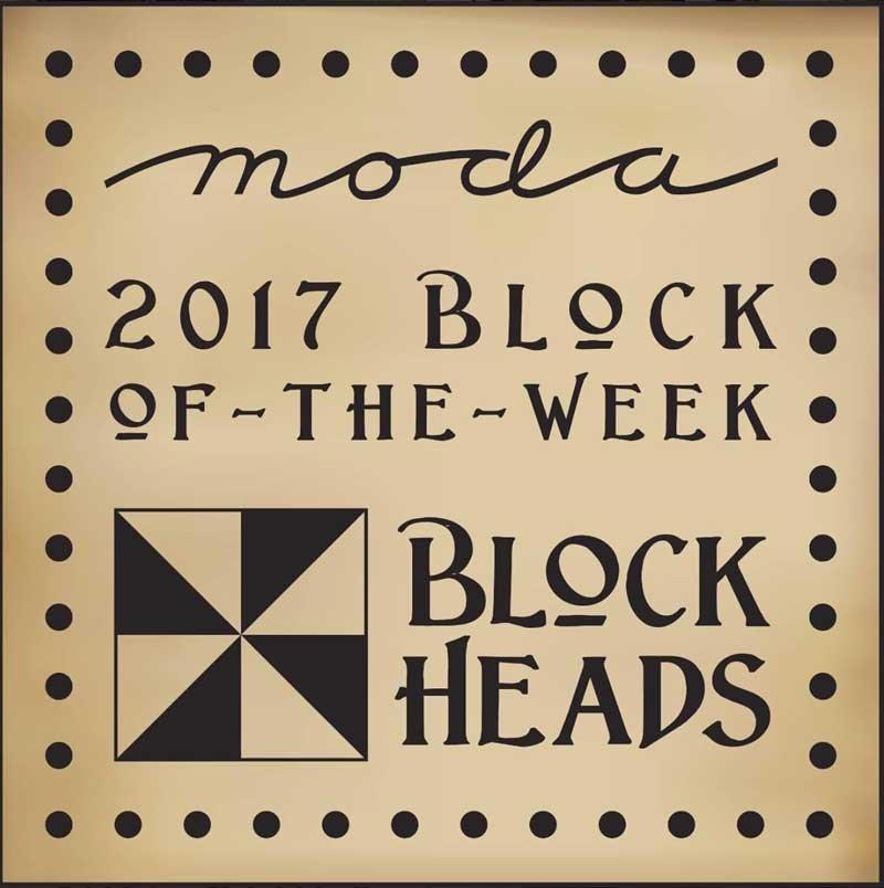 Moda Blockheads 2017 Block of the Week