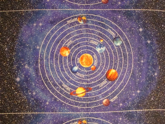 Stonehenge out of this world solar system panel for Solar system fabric panel