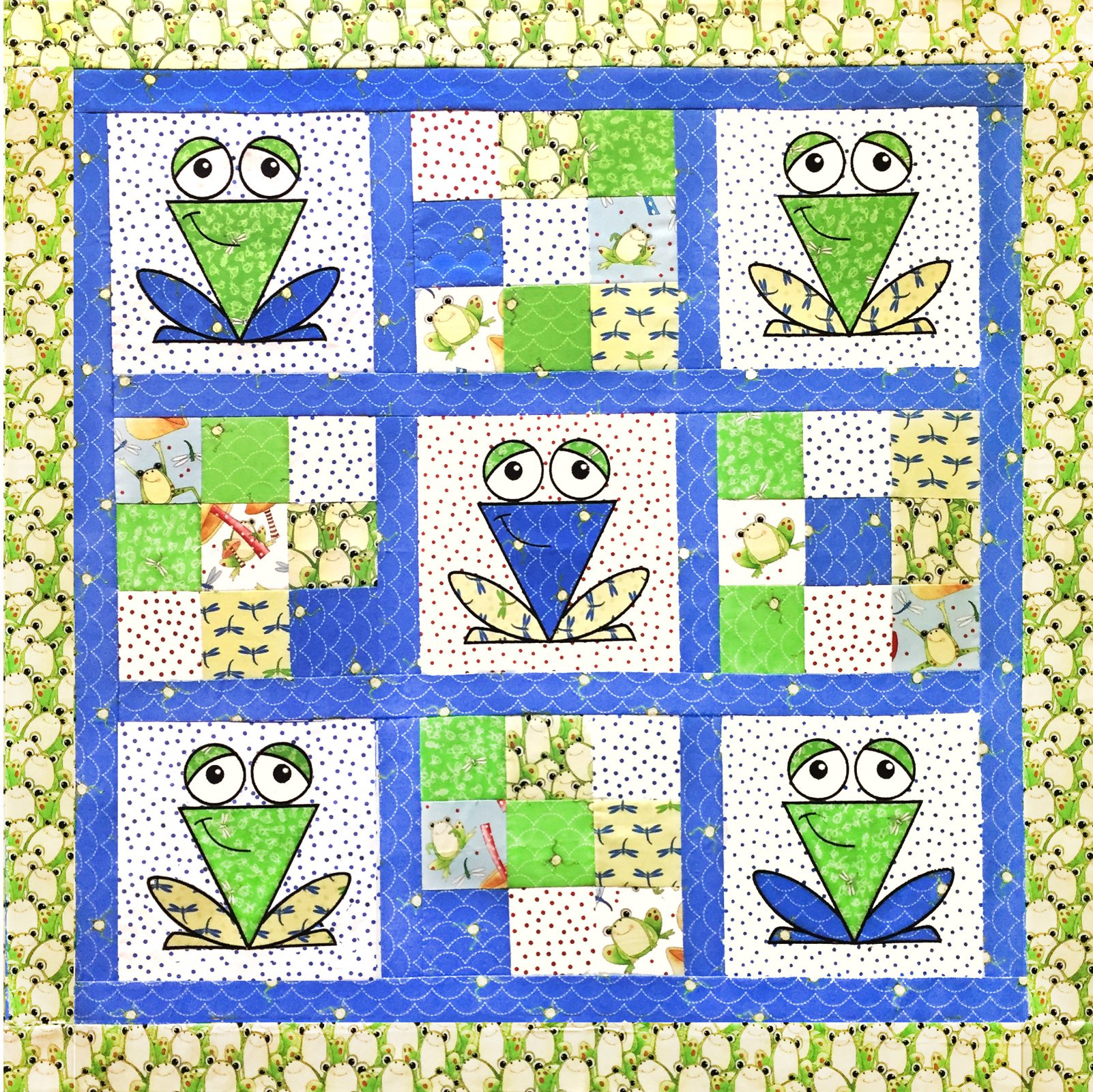 A Chorus of Frogs Quilt Pattern