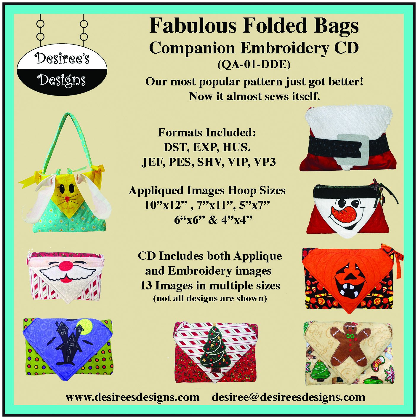 Desiree S Designs Fabulous Folded Bags Pattern