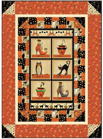 Cheeky Wee Pumpkins Quilt Kit 53x73