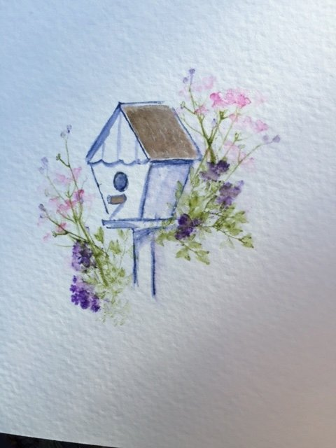 WATERCOLORING #2 WITH AI STAMPS SERIES