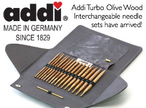 addi turbo olive wood interchangeable knitting needles