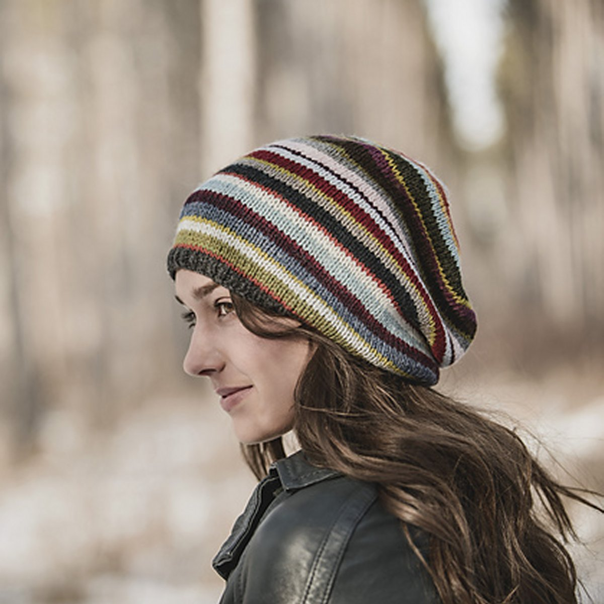 Blue Sky Fibers 21 Color Slouch Hat Kit on a String