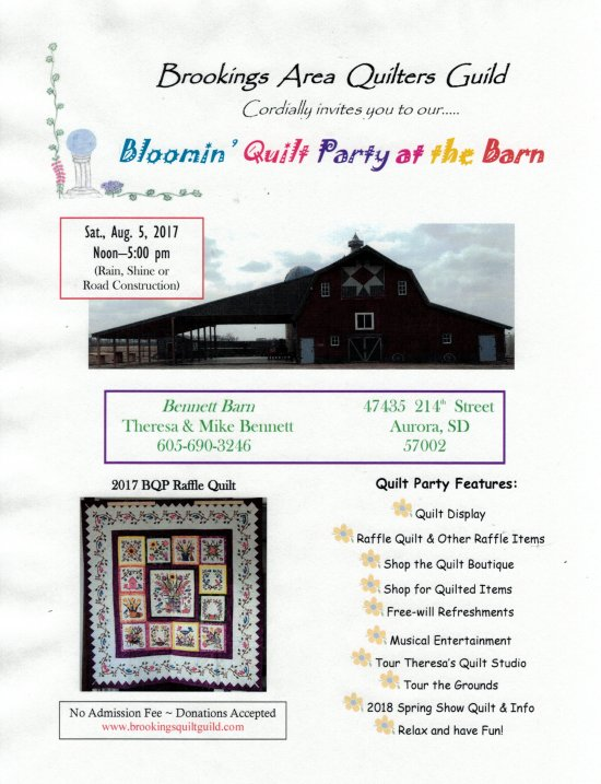 Blooming Quilt Party at The Barn