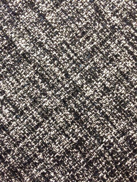 Black and White Wool Lurex Tweed