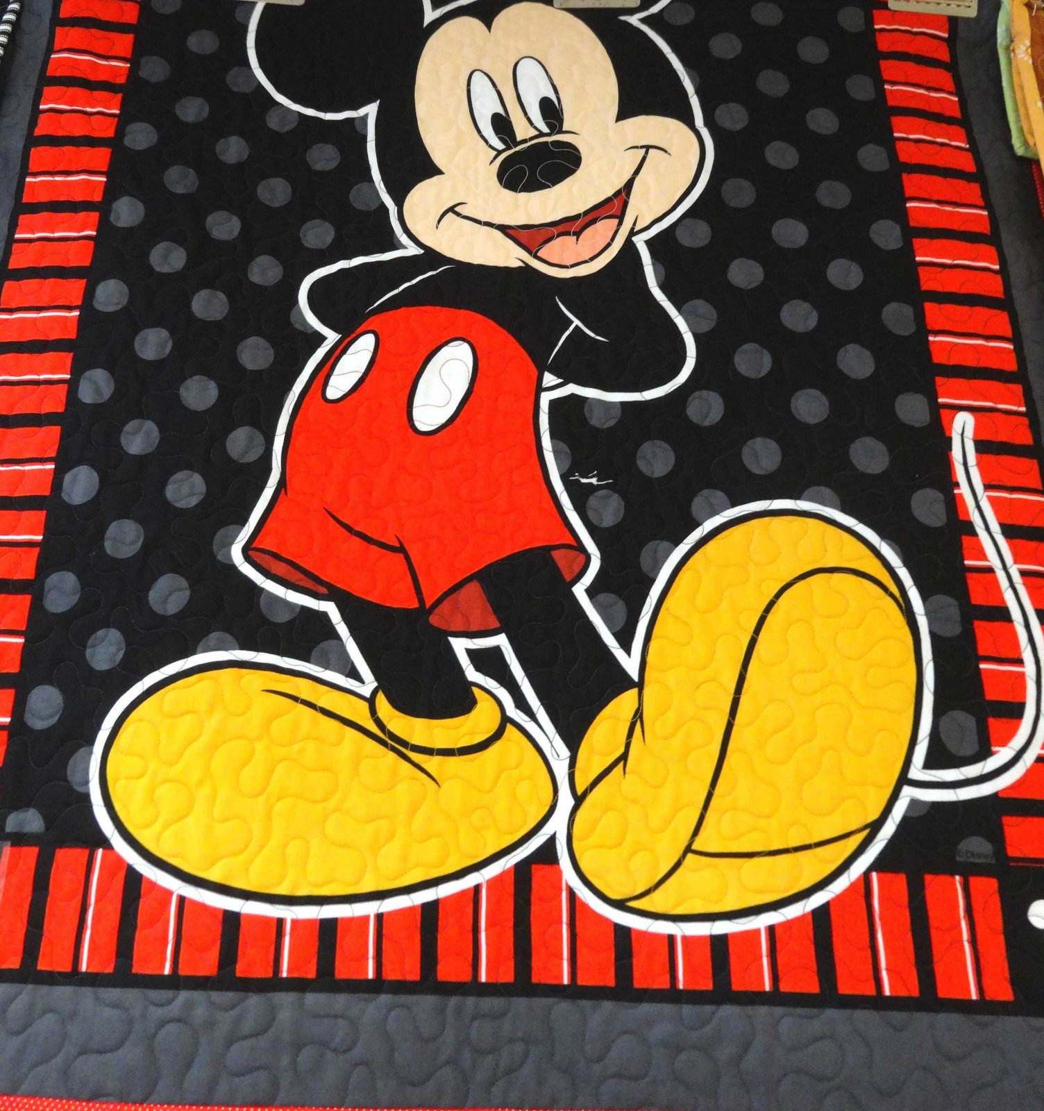 Mickey Mouse Panel Crib Quilt