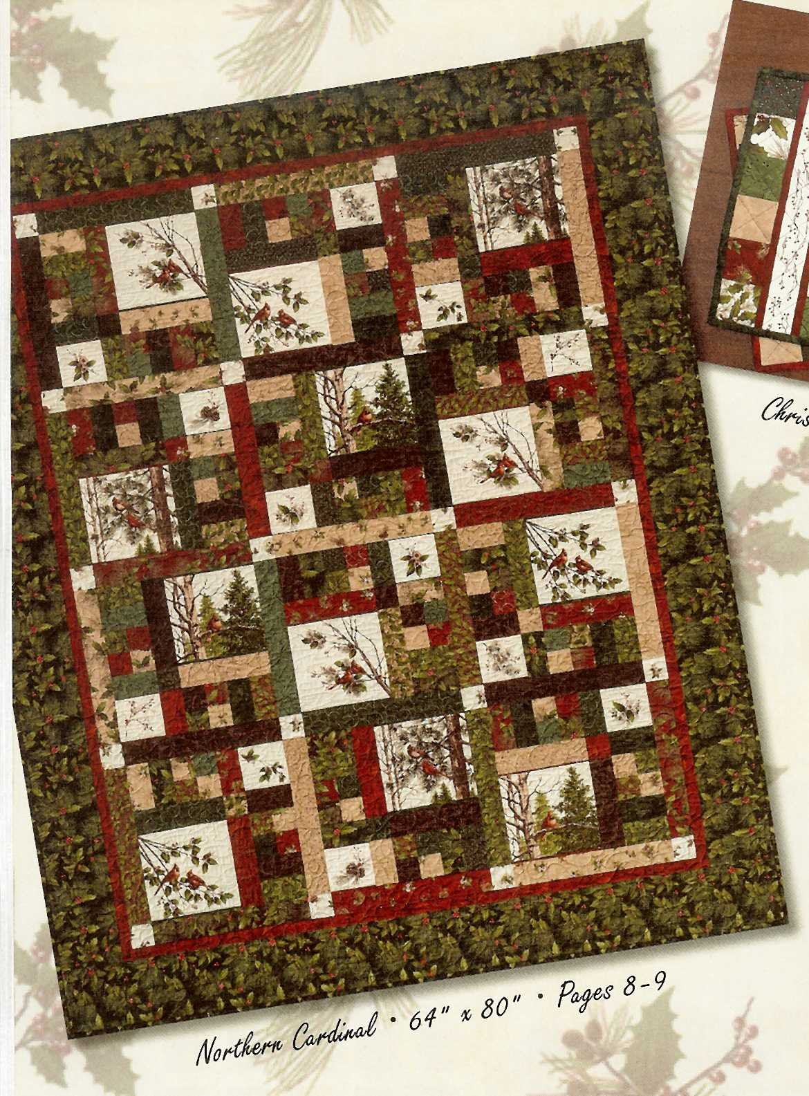 Northern cardinal quilt kit - Quilt rits ...