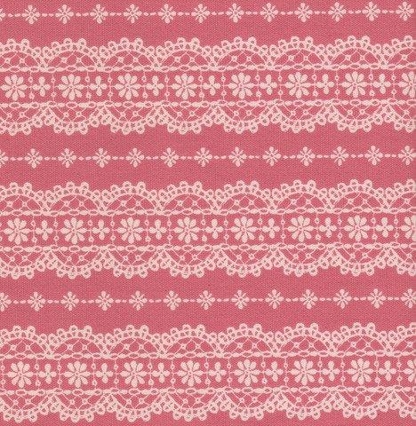 Kokka - Alice in Wonderland - Pink Lace