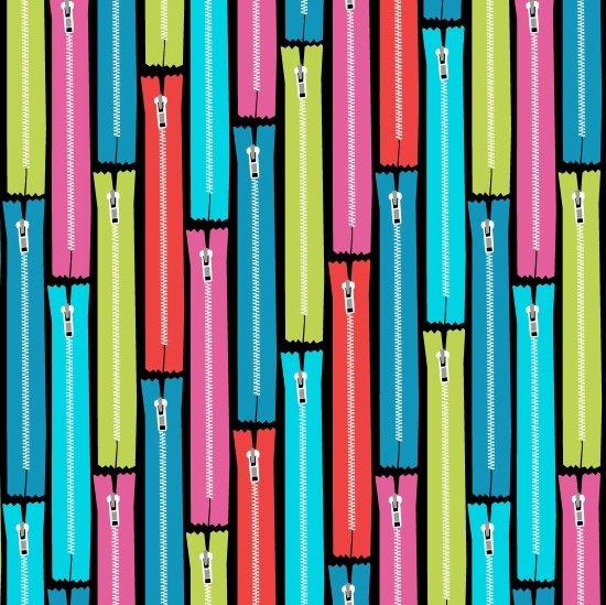 Zippers Black- Sew Much Fun
