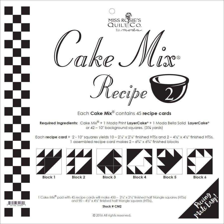 Cake Mix Recipe 2 45ct