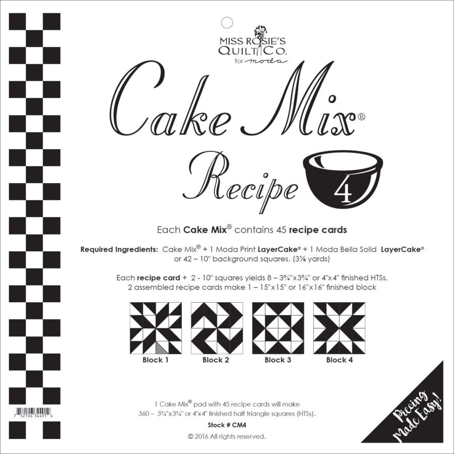 Cake Mix Recipe 4 45ct
