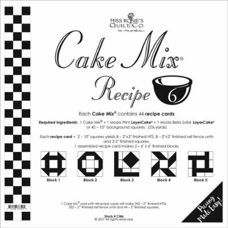Cake Mix Recipe 6 45ct