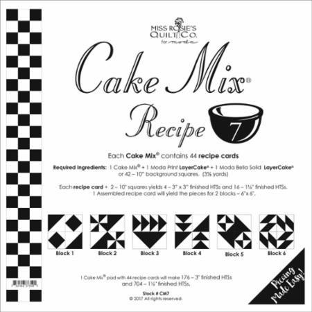Cake Mix Recipe 7 45ct