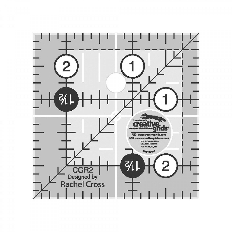 Creative Grids 2-1/2in Square Ruler