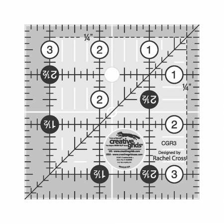Creative Grids 3-1/2in Square Ruler