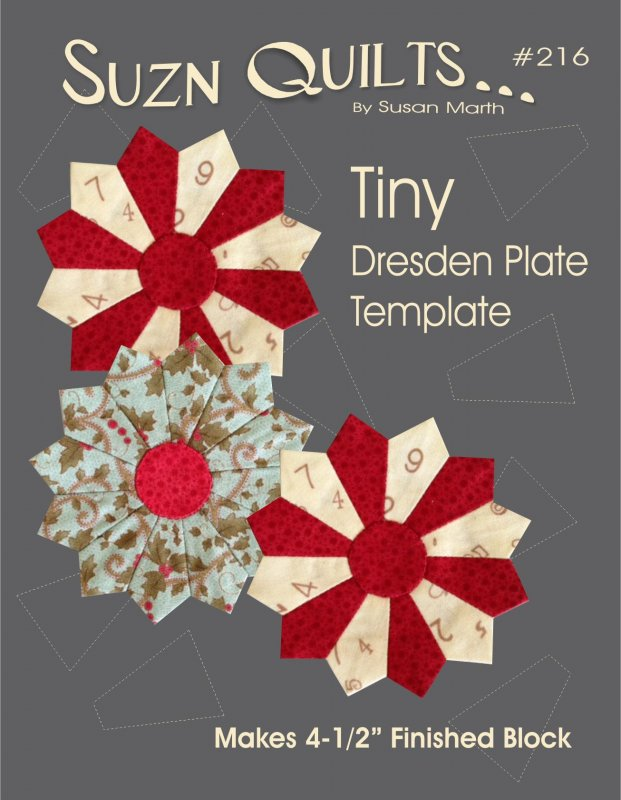 Tiny Dresden Plate Template 4-1/2 Finished Block