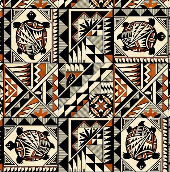 Pueblo Pottery Terra Cotta Fabric 471