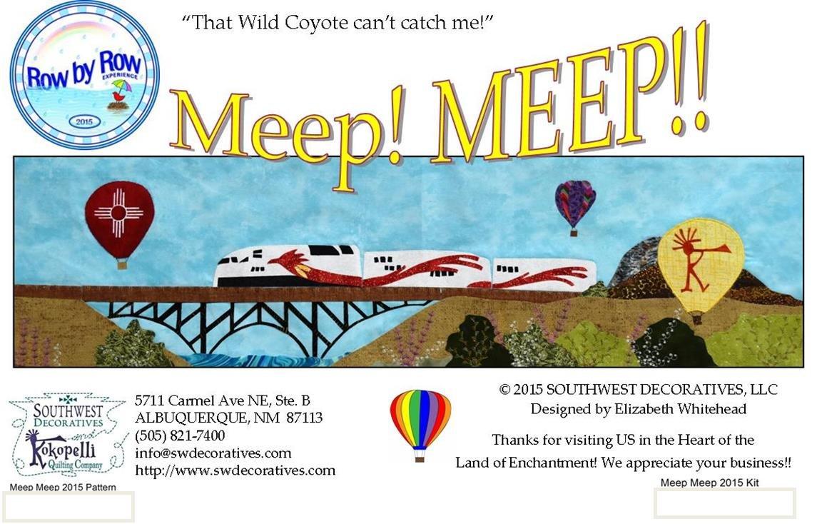 Meep Meep - 2015 Row By Row Experience
