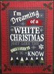 White Christmas Wool Applique Kit