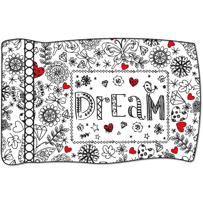 Panel #83 Dream Crayola Coloring Pillow