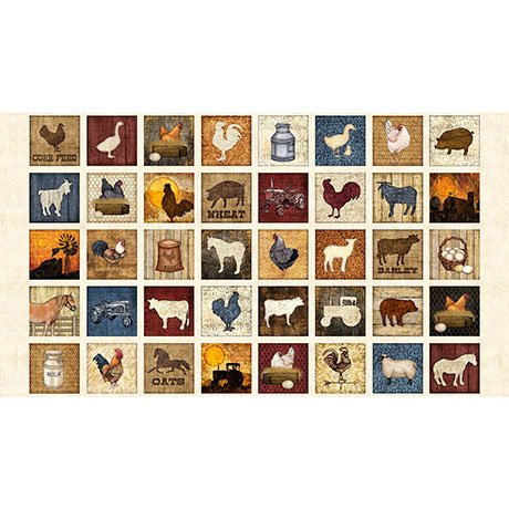 Bountiful Farm Animals Small Patchwork
