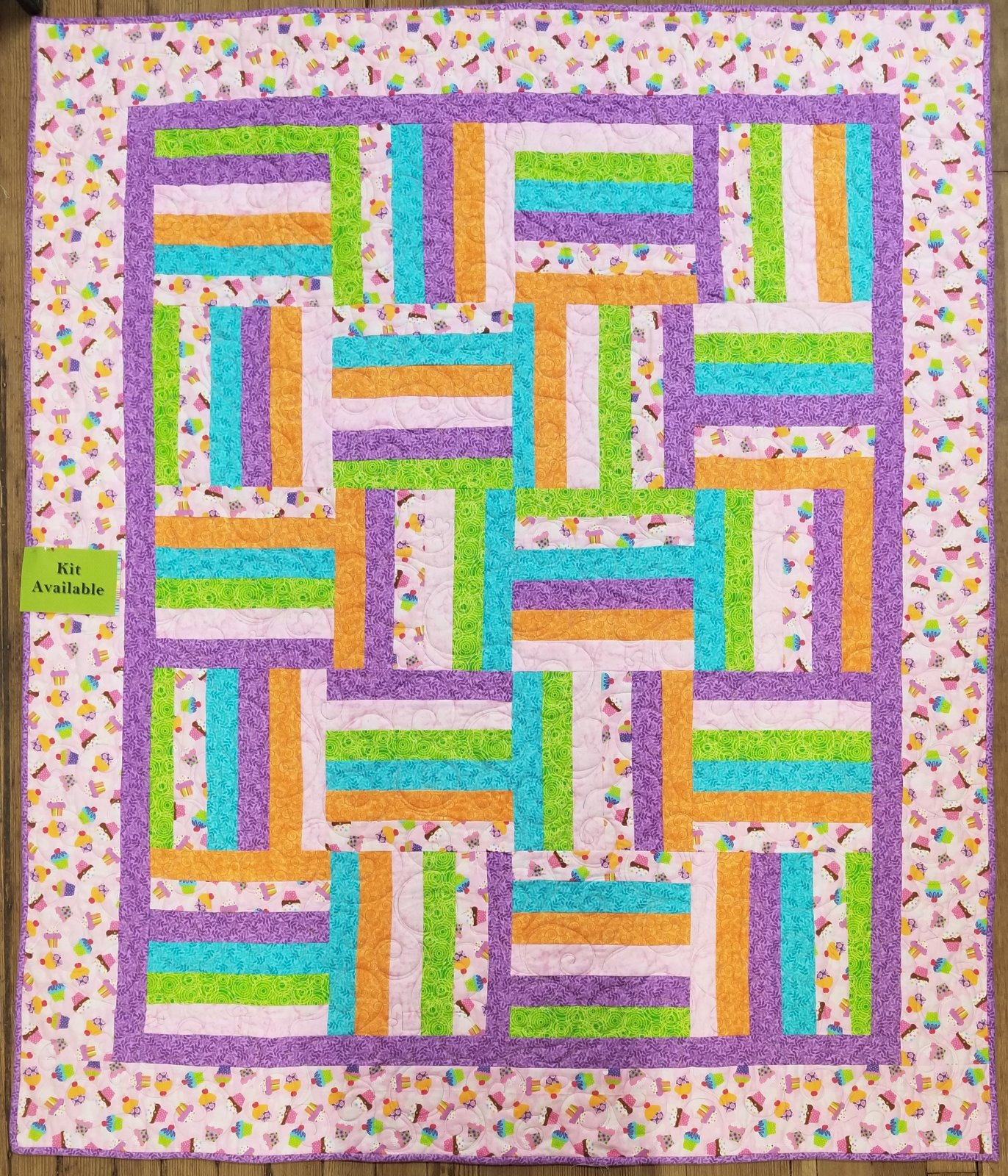Cupcake Flannel Quilt Kit