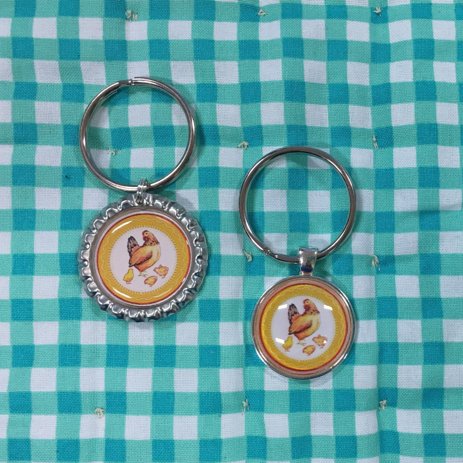 Hen & Chicks Studio Keychains