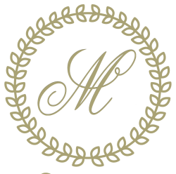 circular traditional monogram with frame