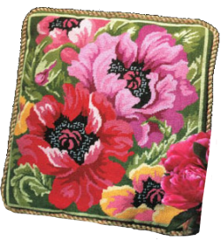 poppies affordable needlepoint kit